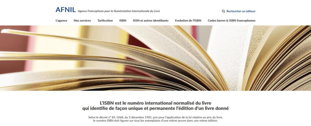 Auto-édition pour un auteur et ISBN - AFNIL