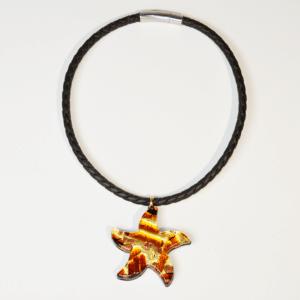 Collier Etoile  – coloris marron